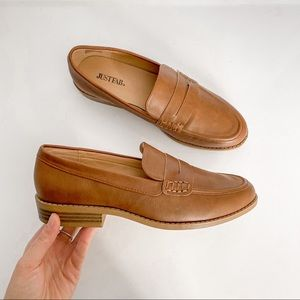 JustFab Giovana Brown Loafers